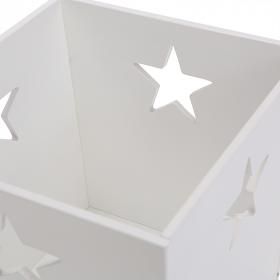 Деревянный ящик для игрушек, белый со звездочкой