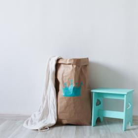 """Эко-мешок для игрушек из крафт бумаги """"Big Crown"""""""