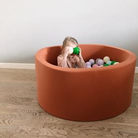 Детский сухой бассейн цвета охра