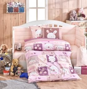 """КПБ с одеялом детское поплин """"SNOOPY"""", розовый"""