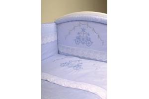 """Комплект белья для новорожденных в кроватку """"Инфанты-Карета"""", Голубой"""