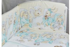 """Комплект белья для новорожденных в кроватку """"Сони"""", Бирюза"""