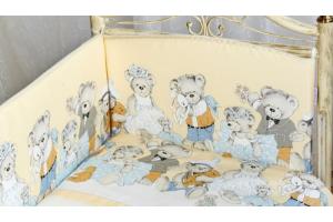 """Комплект белья для новорожденных в кроватку """"Мишкины игрушки"""", Жёлтый"""