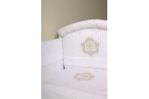 """Комплект белья для новорожденных в кроватку """"Инфанты-Герб"""", Белый"""