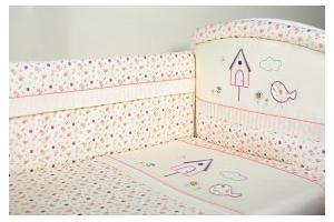 """Комплект белья для новорожденных в кроватку """"Домик для птички"""""""