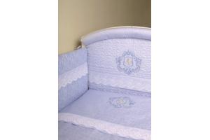 """Комплект белья для новорожденных в кроватку """"Инфанты-Герб"""", Голубой"""