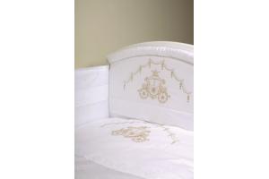 """Комплект белья для новорожденных в кроватку """"Инфанты-Карета"""", Белый"""