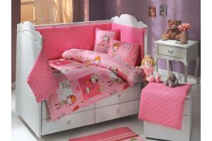"""Комплект постельного белья с одеялом детское поплин """"CITY GIRL"""", розовый"""
