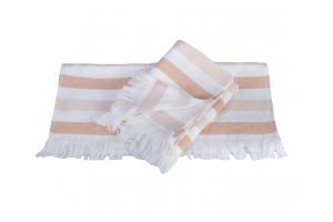 """Махровое полотенце  """"STRIPE"""", персиковый"""