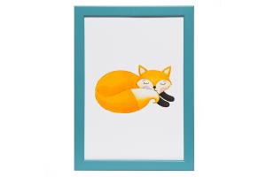 Постер Спящий Лисенок