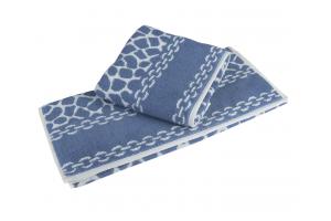 """Махровое полотенце  """"MARBLE"""", синий"""