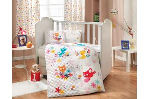 """Комплект постельного белья с одеялом детское поплин """"MIRMIR"""", белый"""