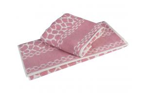 "Махровое полотенце  ""MARBLE"", розовый"