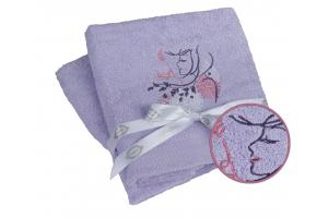 """Махровое полотенце  """"LOVE"""", лиловый"""