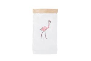 """Эко-мешок для игрушек из крафт бумаги """"Flamingo"""""""