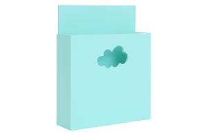 Карман для книг бирюзовый с облачком