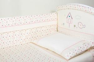 """Комплект белья для новорожденных в кроватку """"Домик для птички"""" 3 предмета"""