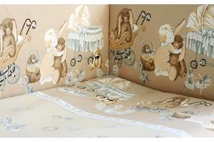 """Комплект белья для новорожденных в кроватку """"Колыбельная"""" 3 предмета"""