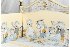 """Комплект белья для новорожденных в кроватку """"Мишкины игрушки"""" 3 предмета"""