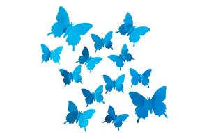 "Комплект 3D наклеек ""Butterflies"" зеркальные"
