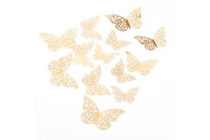"""Комплект 3D наклеек """"Butterflies"""" перфорированные"""