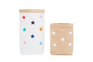 "Эко-мешок для игрушек из крафт бумаги ""Small Stars"""