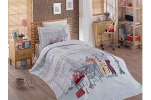 """Комплект постельного белья  с покрывалом жаккард """"MARSELE"""""""